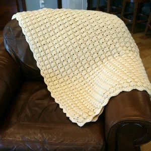 Large Cream color Afghan